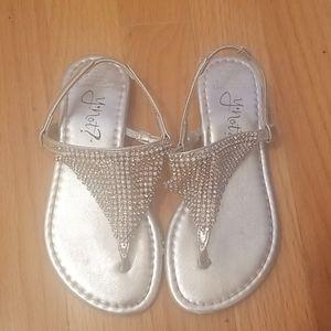 Girls Gorgeous Silver Sandals